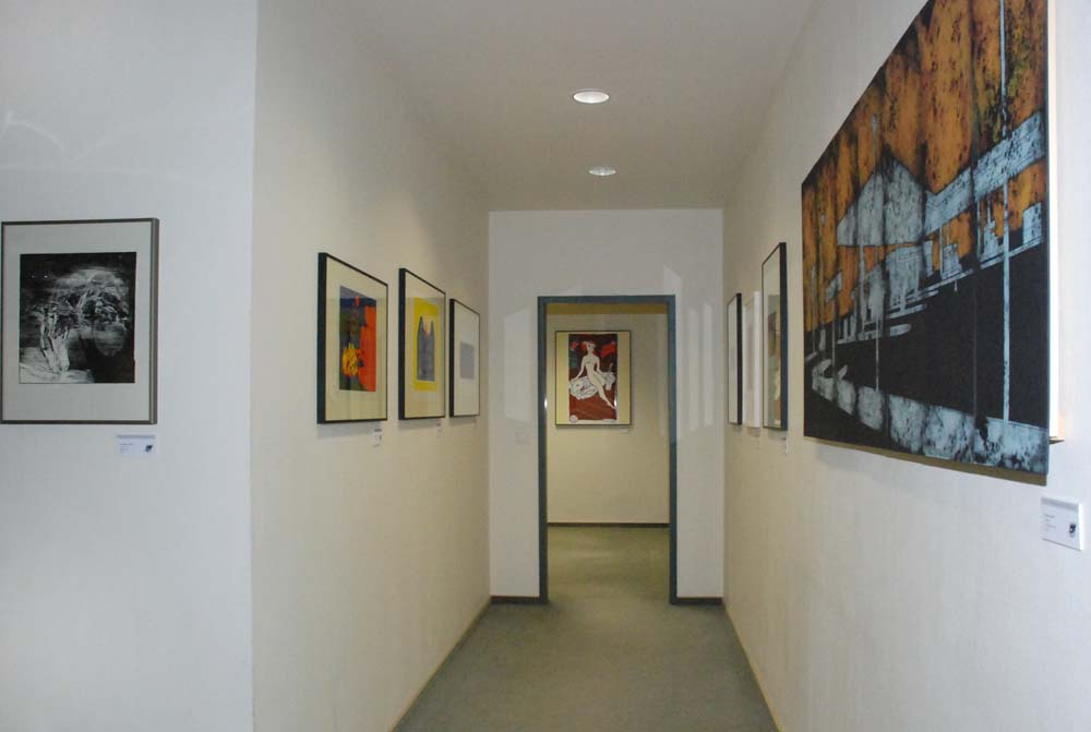 Ausstellung mit Grafiken verschiedener Künstler