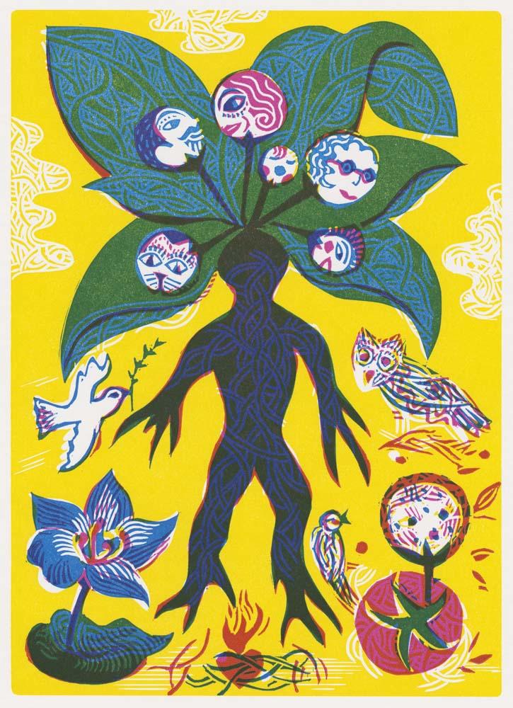 mythologische Wurzel in Menschengestalt