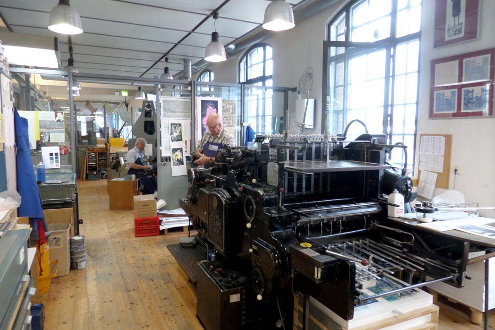 Buchdruckschnellpresse