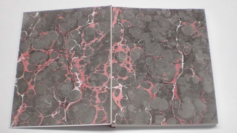 Vorsatz Marmorpapier