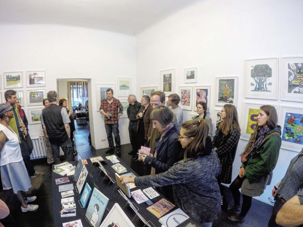 Ausstellungseröffnung mit Galerist und Künstler Henning Wagenbreth