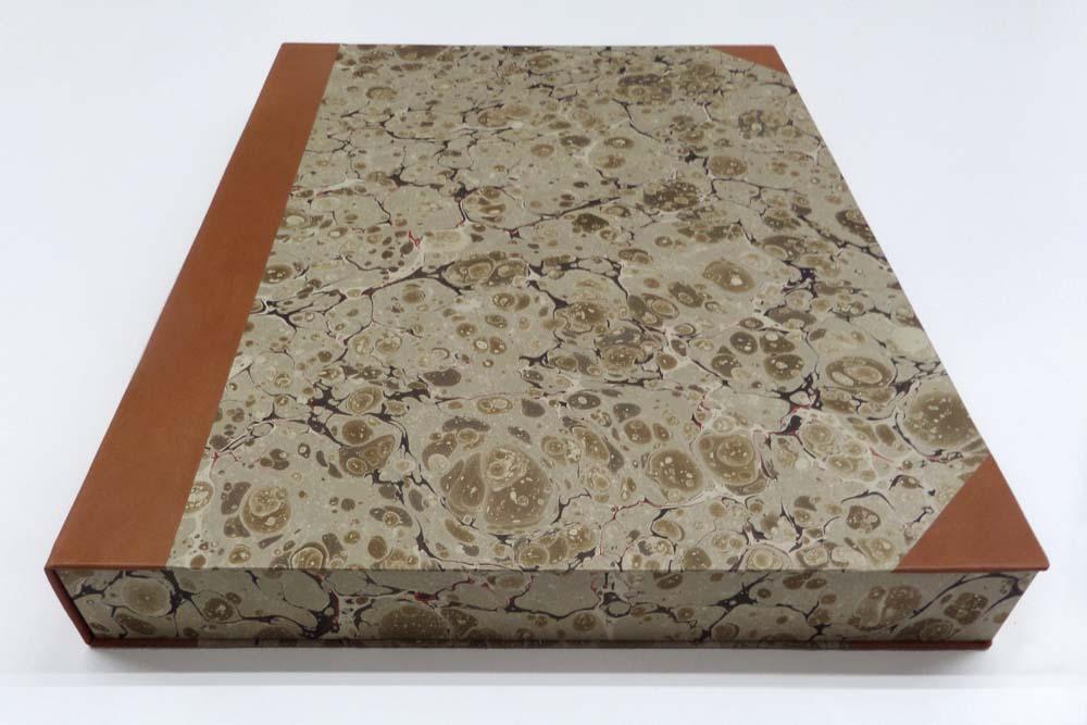 Buntpapier Steinmarmor graugrün
