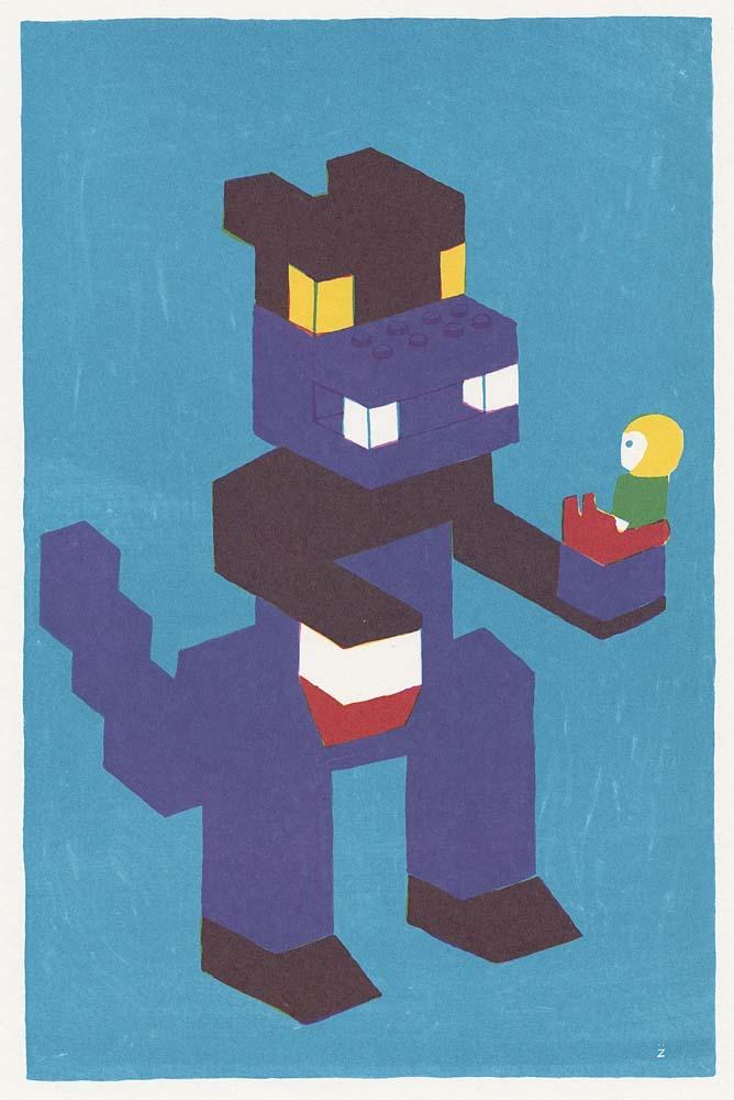 Godzilla als Legofigur