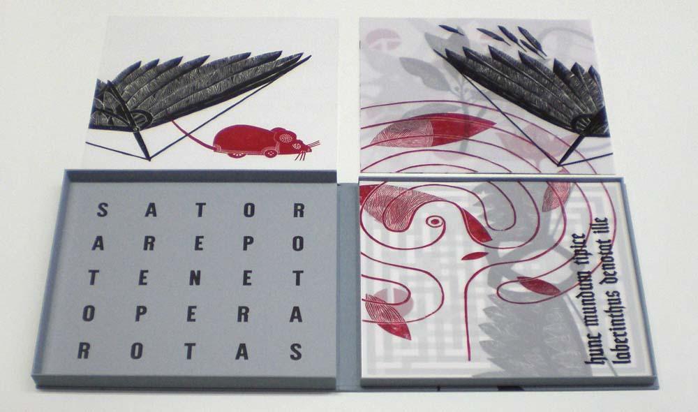 Minotaurus, Flügelpaar des Ikaros, Mechanische Maus Theseus, Menschliches Innenohr, Weg durch das kretische Ein-Weg-Labyrinth, Lorbeer, Optische Täuschung