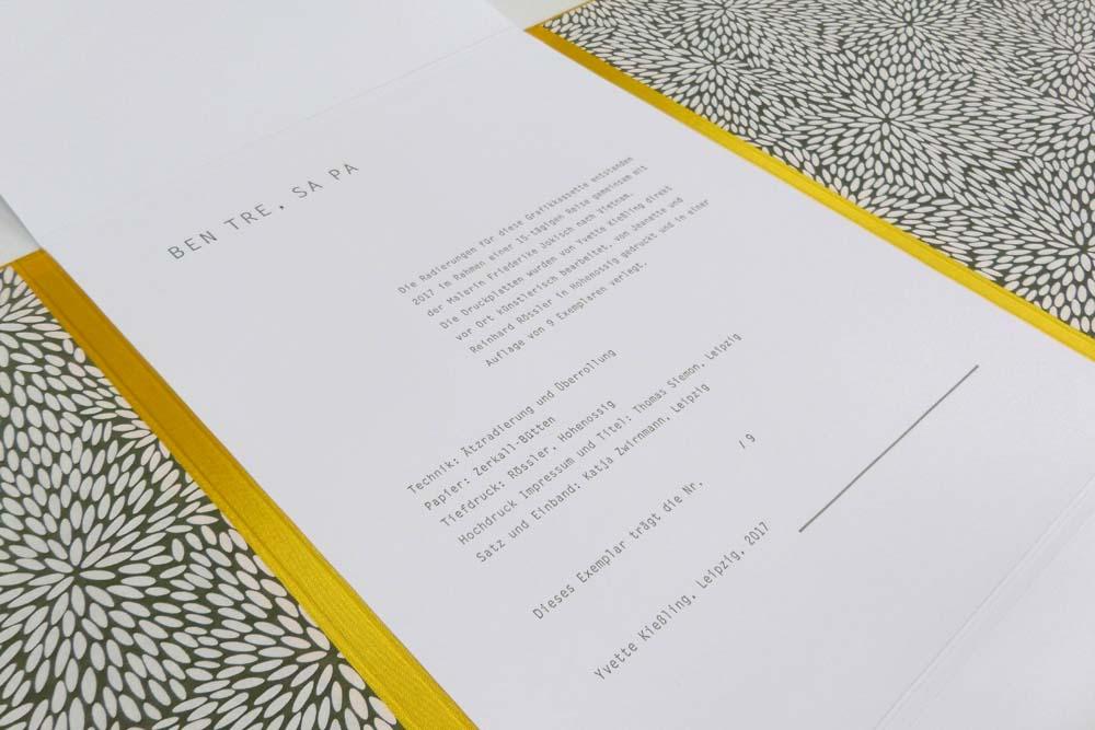typografische Gestaltung Impressum
