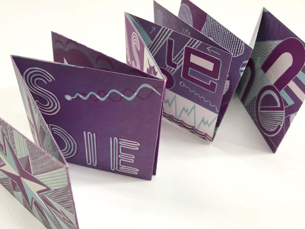 2farbiger Linolschnitt, Einblattdruck gefalzt zu Büchlein