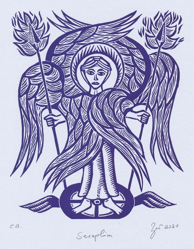Linolschnitt Seraphim