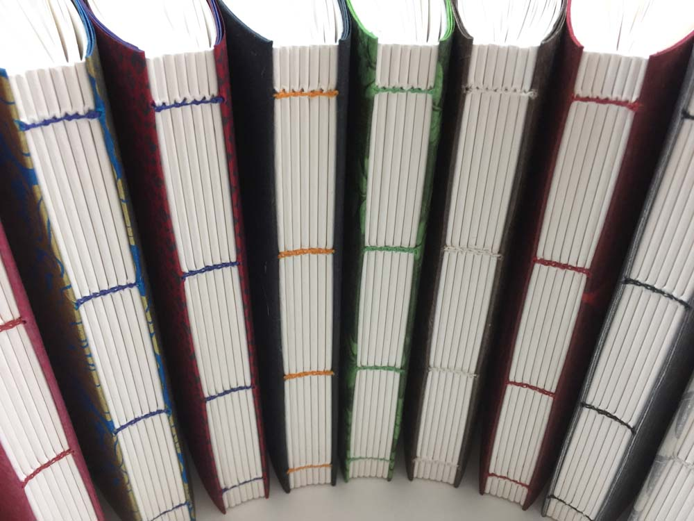 Buchrücken mit sichtbarer Heftung