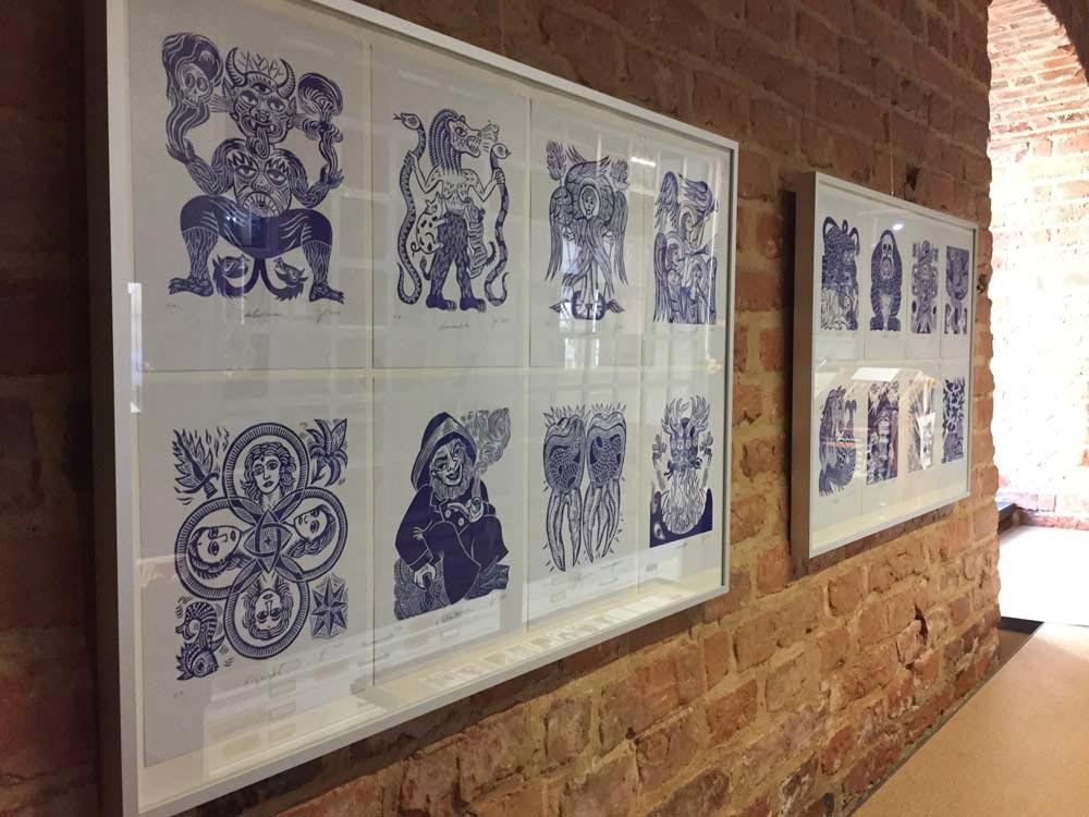 Ausstellung der Linolschnitte vom Kleinen Pandämonium