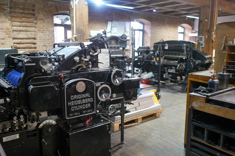 Schnellpresse für Buchdruck