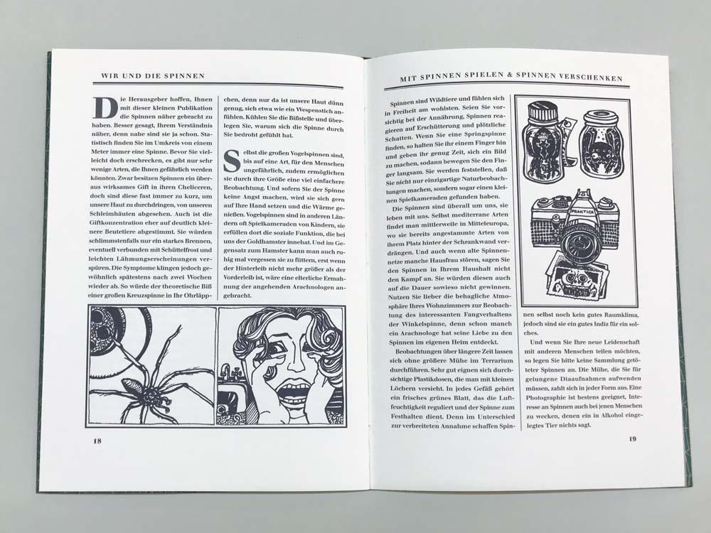 Doppelseite mit Illustrationen