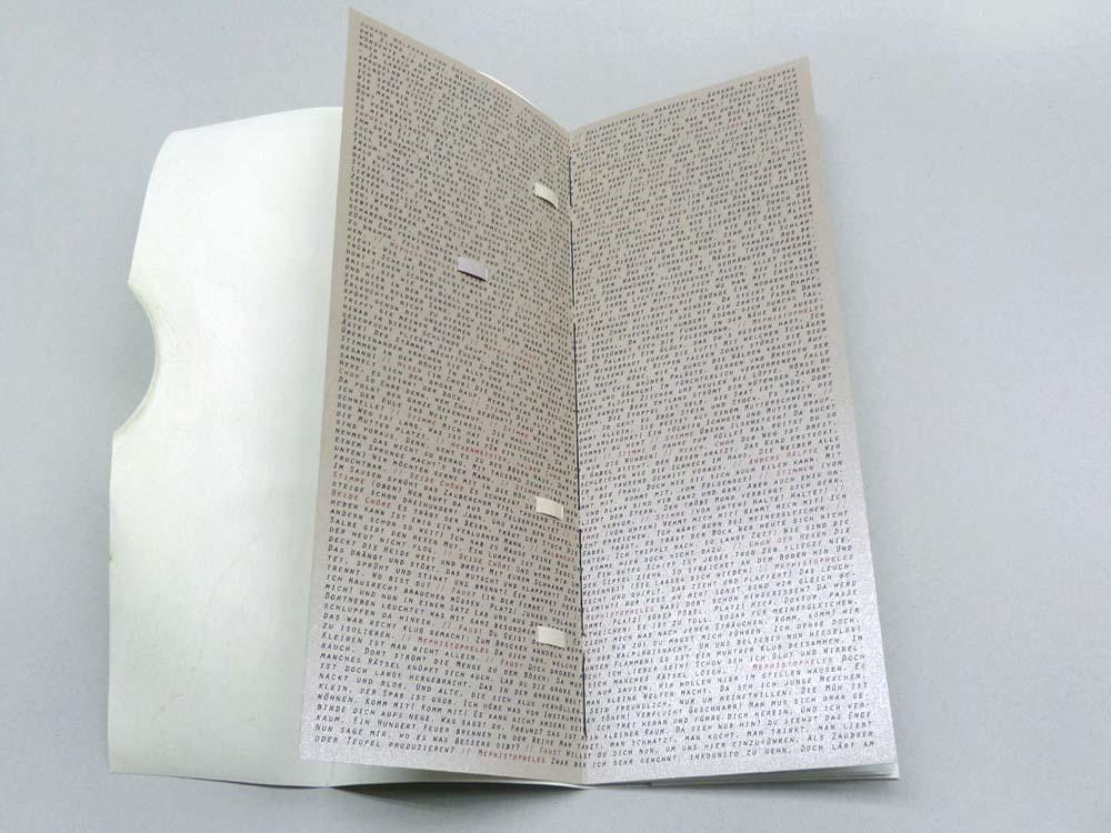 aufklappbare Umschlagdoppelseite mit dem gesamten Text der Szene Walpurgisnacht